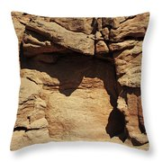 Rock Face 3 Throw Pillow