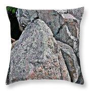 Rock Face Throw Pillow