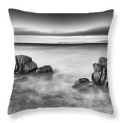 Ballycastle - Rock Face Throw Pillow