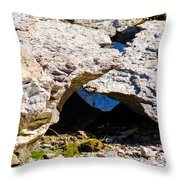 Rock Formation Devonian Fossil Gorge Throw Pillow