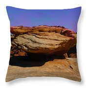 Rock Formation In Canyon De Chelly Throw Pillow