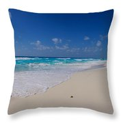 Rock Formation On The Coast, Cancun Throw Pillow