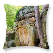 Rock Formation Wildcat Den State Park Throw Pillow