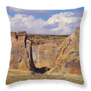 Rock Formations At Capital Reef Throw Pillow