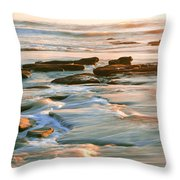 Rock Formations At Windansea Beach, La Throw Pillow