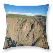 Rock Formations In Black Canyon Throw Pillow