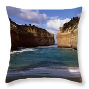 Rock Formations In The Ocean, Loch Ard Throw Pillow