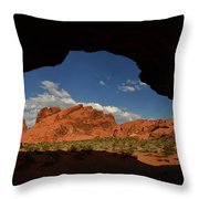 Rock Formations In The Valley Of Fire Throw Pillow