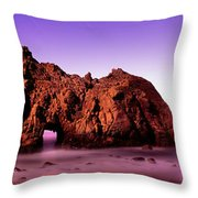 Rock Formations On The Beach, Pfeiffer Throw Pillow