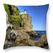 Rock Framed Split Rock Throw Pillow