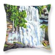 Rock Glen Falls Ontario Canada Throw Pillow
