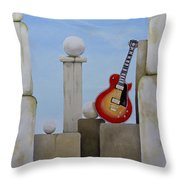 Rock Guitar Les Paul Custom Throw Pillow