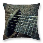 Rock Guitar Throw Pillow