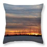 Rock Hall Sunset I Throw Pillow