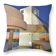 Rock Hall Sunset Throw Pillow