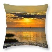Rock Harbor Sunset 2 Throw Pillow