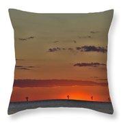 Rock Harbor Sunset 6 Throw Pillow