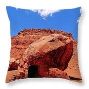 Rock House In Arizona Throw Pillow