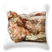 Rock Isolated On White Throw Pillow