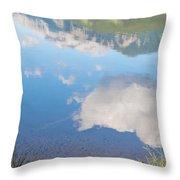 Rock Lake Alberta Canada And Willmore Wilderness Throw Pillow