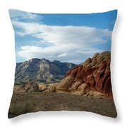 Rock Layers Throw Pillow