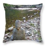 Rock Man Throw Pillow