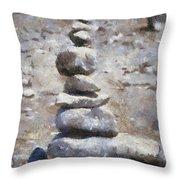 Rock Markers Photo Art 02 Throw Pillow