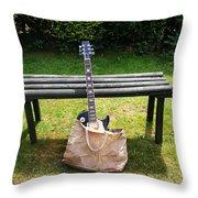 Rock N Roll Guitar In A Bag Throw Pillow