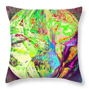 Rock 'n Roll In Crazy-gushing Colours Throw Pillow