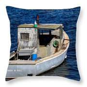 Rock N Roll In Maine Throw Pillow