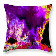 Rock 'n' Roll In Purple Night Throw Pillow