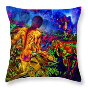 Rock 'n' Roll In The Rhythms Of Colours Throw Pillow