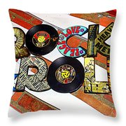 Rock N Roll Is Here To Stay Throw Pillow