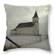 Rock Of Ages In North Dakota Throw Pillow