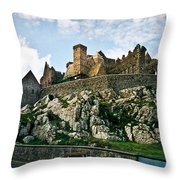 Rock Of Cashel Castle Ireland Throw Pillow