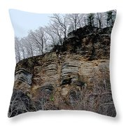 Rock Of Many Faces  Throw Pillow
