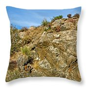Rock Pile In Black Rock Canyon On Panorama Loop Trail In Joshua Tree National Park-california Throw Pillow