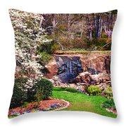 Rock Quarry Garden Throw Pillow