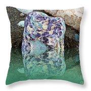Rock Reflections - Water - Beach Throw Pillow