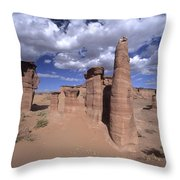 Rock Sentinels In Talampaya National Park Throw Pillow
