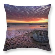 Rock Stopper Throw Pillow by Julianne Bradford