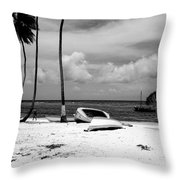 Rock The Boat  Black And White Throw Pillow