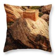 Rock Tower Throw Pillow