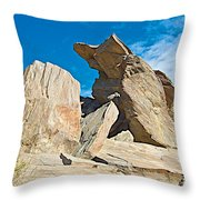 Rock Uplifts In Andreas Canyon In Indian Canyons-ca Throw Pillow