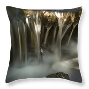Rock Waterfall Throw Pillow