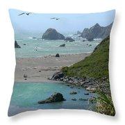Rock West Coast Throw Pillow by Mike McGlothlen
