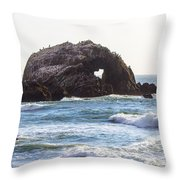 Heart Rock Near San Francisco Ca Cliff House Throw Pillow