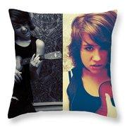 Rockalele Throw Pillow by Lisa Knechtel