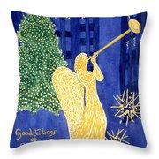 Rockefeller Angel Throw Pillow