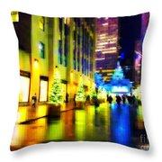 Rockefeller Center Christmas Trees - Holiday And Christmas Card Throw Pillow